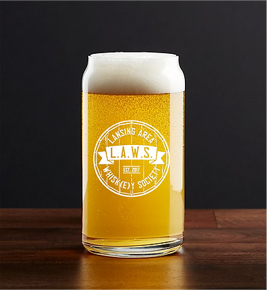 16 oz beer can glass (LAWS)