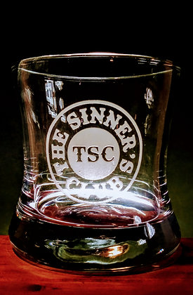 SINNER'S 8 OUNCE CURVED BOURBON GLASS