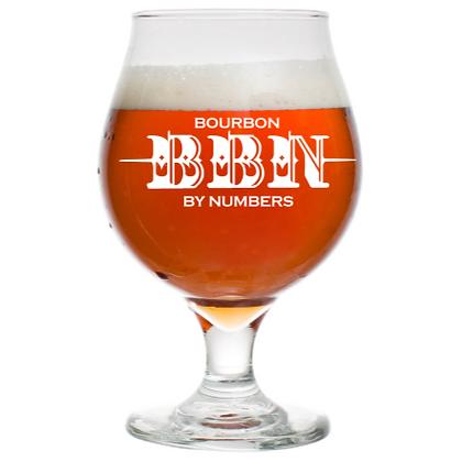 BBN 16 OZ TULIP BEER GLASS