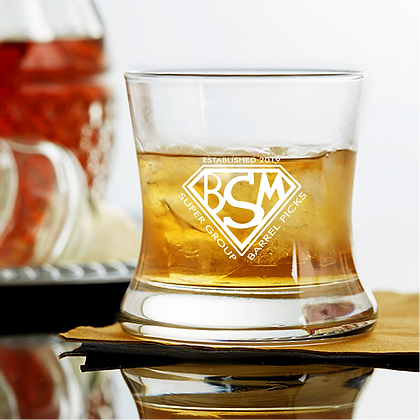 Curved Bourbon Glass 8.5 OZ BSM