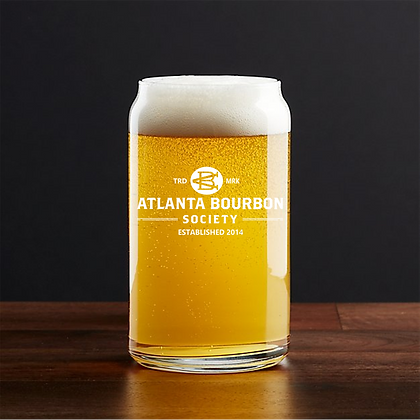 16 oz beer can glass (abs)
