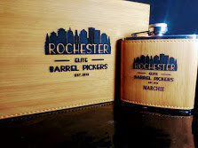 Rochester personalized flask set