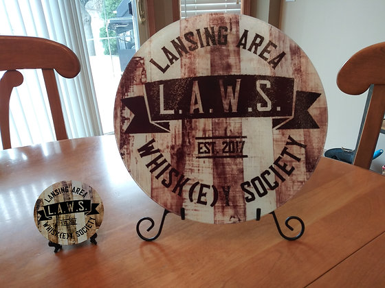 LAWS CUTTING BOARD AND COASTERS