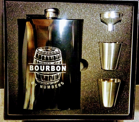 Bourbon by Numbers Flask