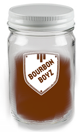 12 oz mason jar glass WITH LID (BOYZ)