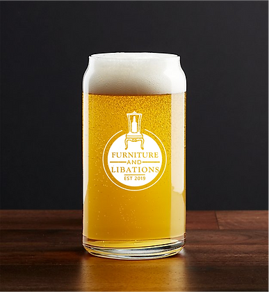 16 oz beer can glass (F&L)