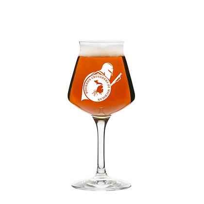 Crusaders 14 oz tulip beer glass