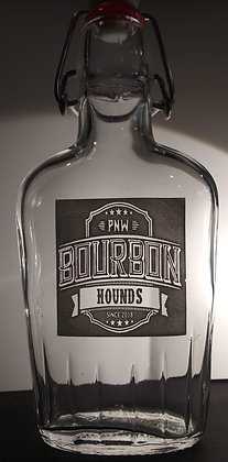 Bourbon Hound Glass Flask 8 oz