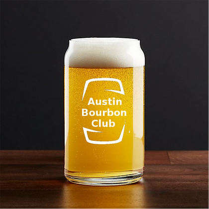 16 oz beer can glass (Austin)