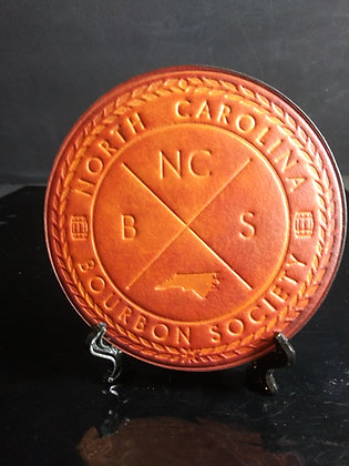 NCBS EMBOSSED LEATHER COASTER
