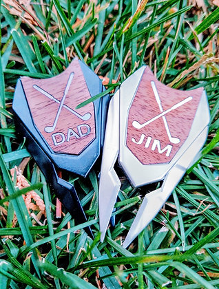 PERSONALIZED BALL MARKER- DIVOT TOOL
