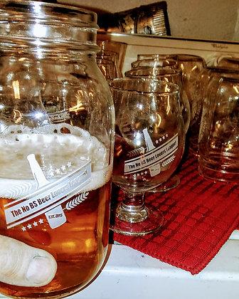 quart mason jars No BS Beer Lovers