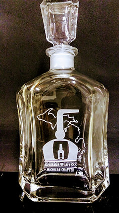 Bourbon Lovers Michigan Chapter Decanter
