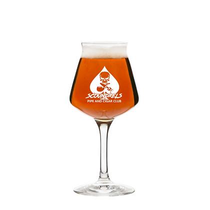 Scoundrels 14oz stemmed beer glass