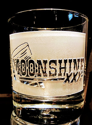 Moonshine 7oz rock glass