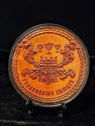 custom Edradourian Knights Leather coaster