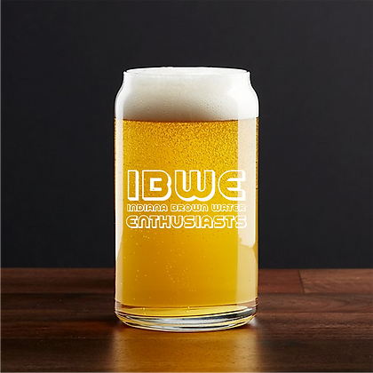 IBWE 16 OUNCE BEER CAN GLASS