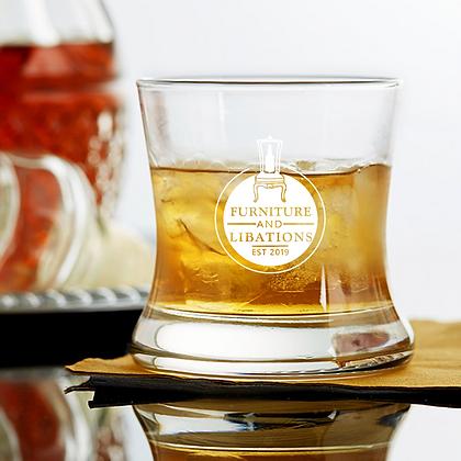 Curved Bourbon Glass 8.5 OZ F&L