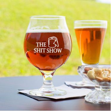 16 oz beer tulip glass (Shit Show)
