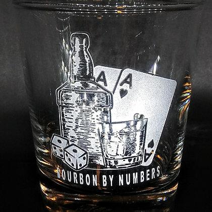 set of 4 rocks glass