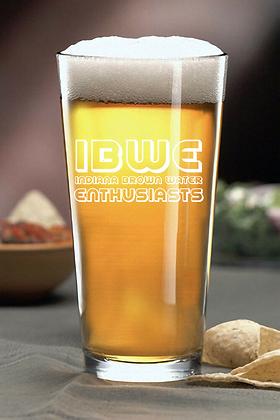 IBWE 16 OUNCE PINT GLASS