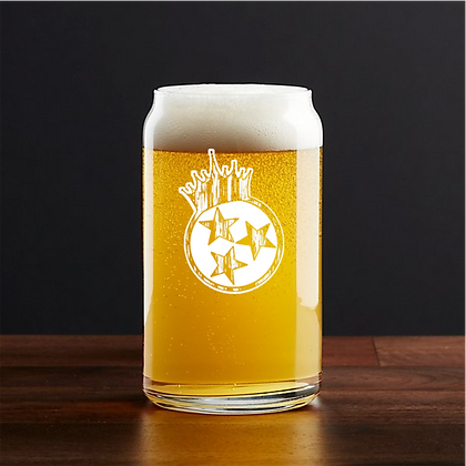 Tri Star barrel Beer can glass