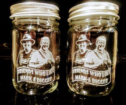 Mark and Digger Mason Jar Glass (10 oz)