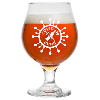 16 oz beer tulip glass (c19)