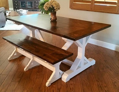 SouthernFireRustic.com - Farmhouse Table - The Rustic X