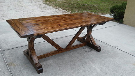Farmhouse Table - Southern Fire Rustic - Rustic X
