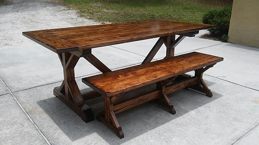 Farmhouse Table - The Rustic X