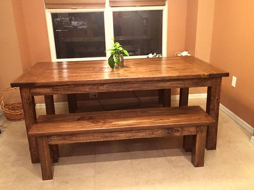 SouthernFireRustic.com - Farmhouse Table - The Southern Harvest