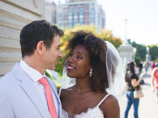 """Stacey & Todd's Boston """"Trash"""" the dress"""