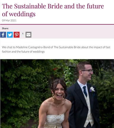 Bride Magazine. The Future of Weddings.