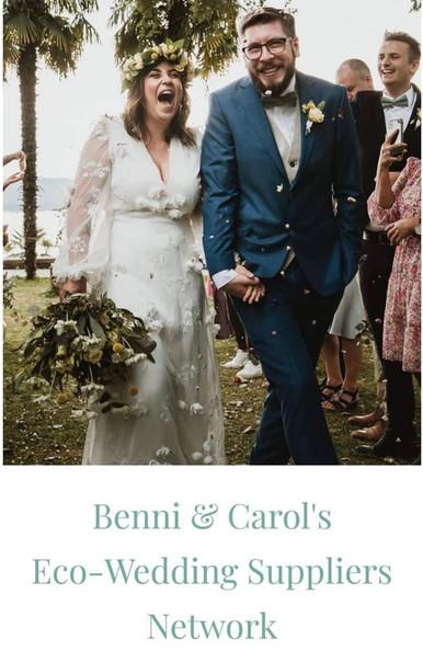 Benni & Carol's Eco-Wedding Supplier Network Listing.