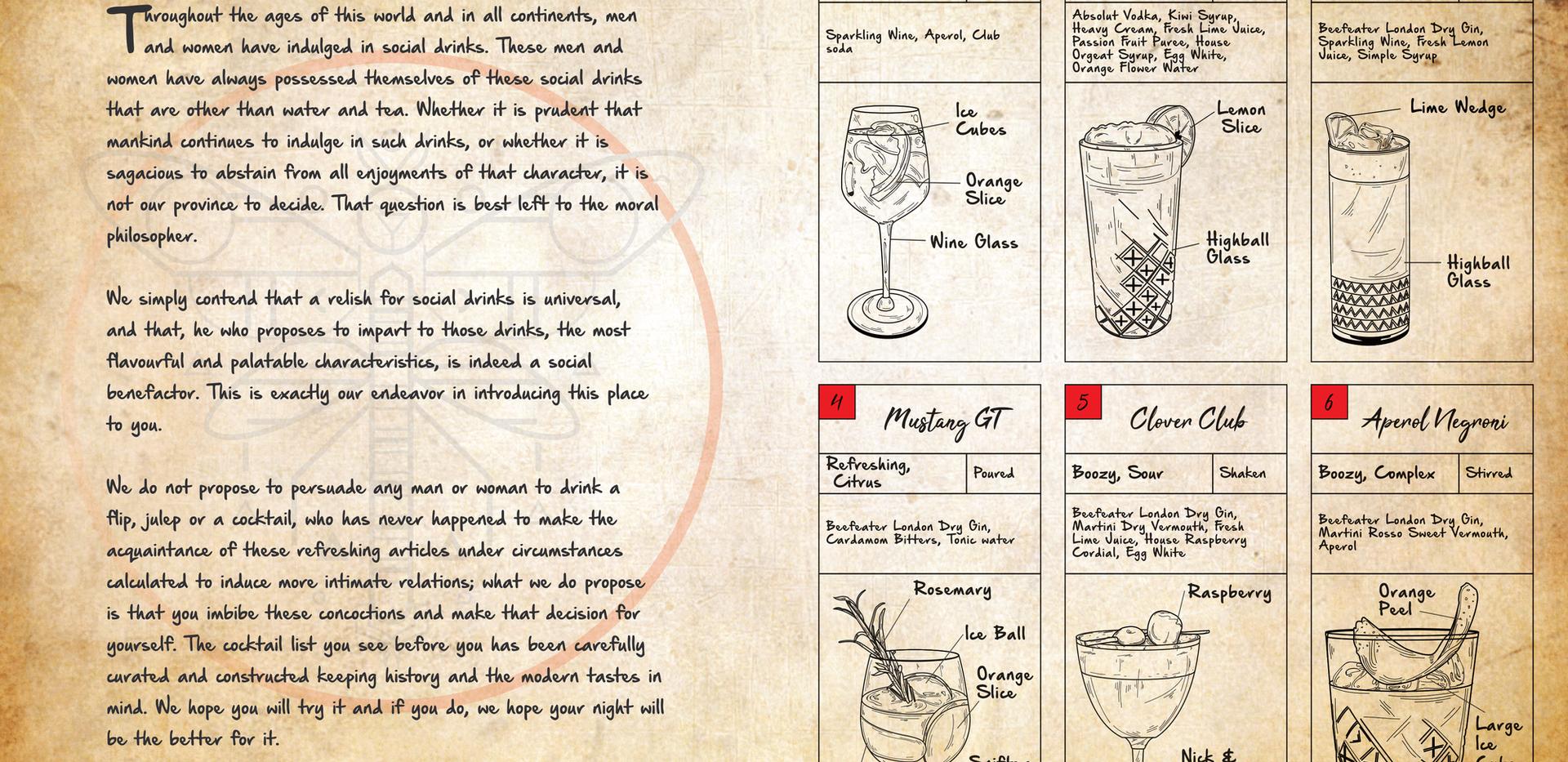Cocktail Menu Pg 1