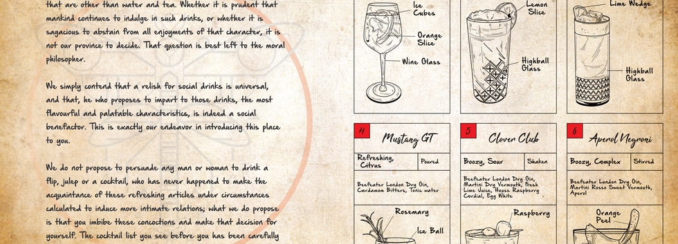 Cocktail Menu Pg 1