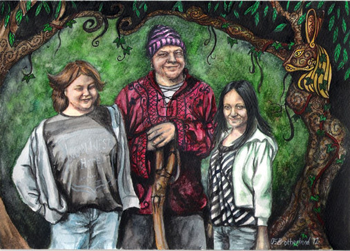 Pagan famiily with Glennie kindred inspi