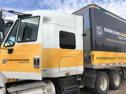 Our KnowledgeSurge Institute tractor-trailer that we use for practical behind-the-wheel training.