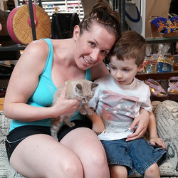 Another kitten adopted! Lilo now has her forever home! #adoptionfair #kitties #foreverhomefound