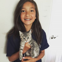 We are so happy to have found a loving home for our most recent foster kitten with Hannah and her fa