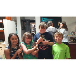 Two more kittens adopted!!! So glad we could find them their forever home with these great kids! We