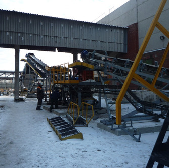 Installation of jaw crusher in the line of DSC