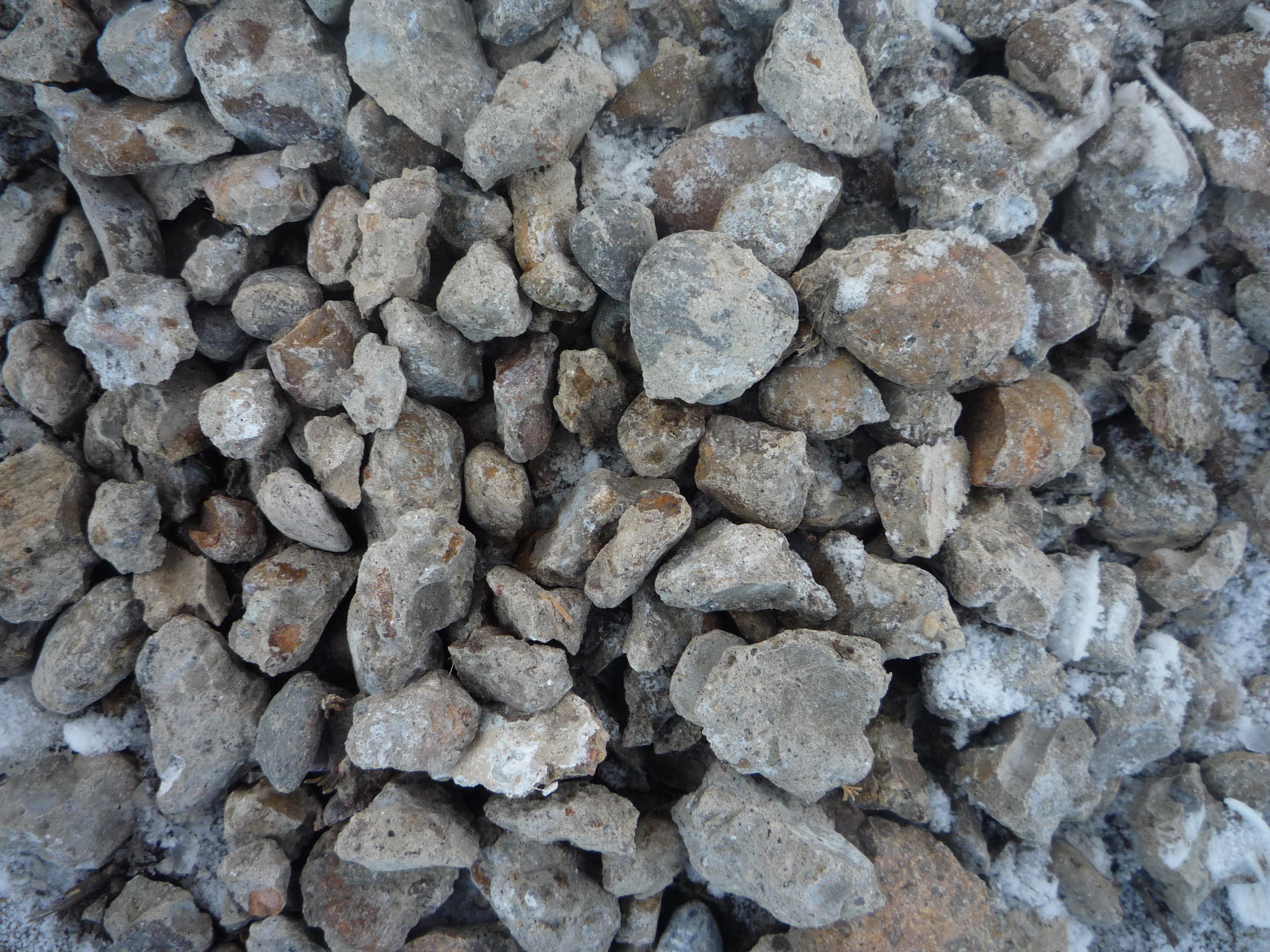 Concrete rubble secondary