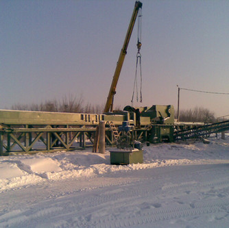 Installation of crushing and screening complex