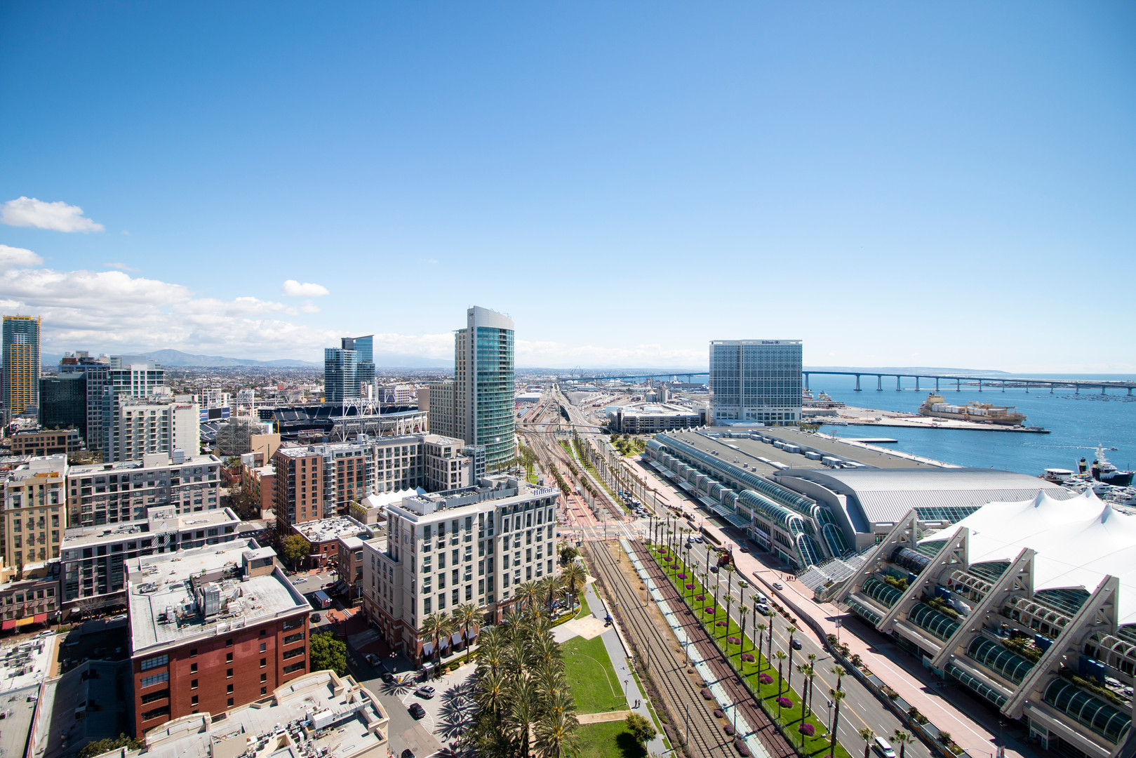 San Diego Convention Center, Petco Park, Gaslamp, Coronado Bridge View