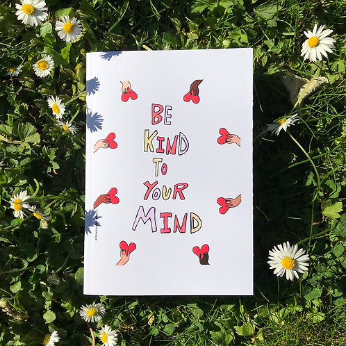 A6 Recycled Notebook: Kind Mind Design