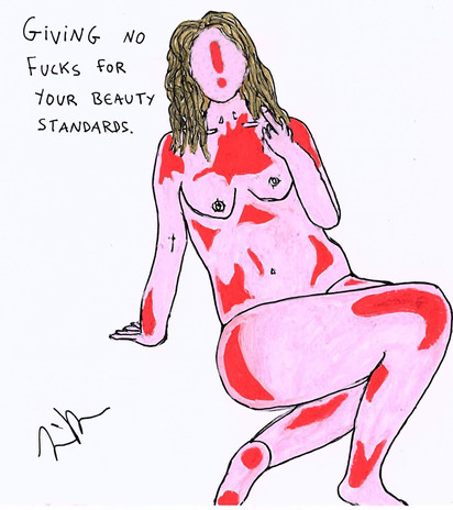 No fucks for your beauty standards