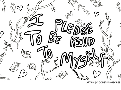 FREE Self-Care Colouring Book To Print At Home
