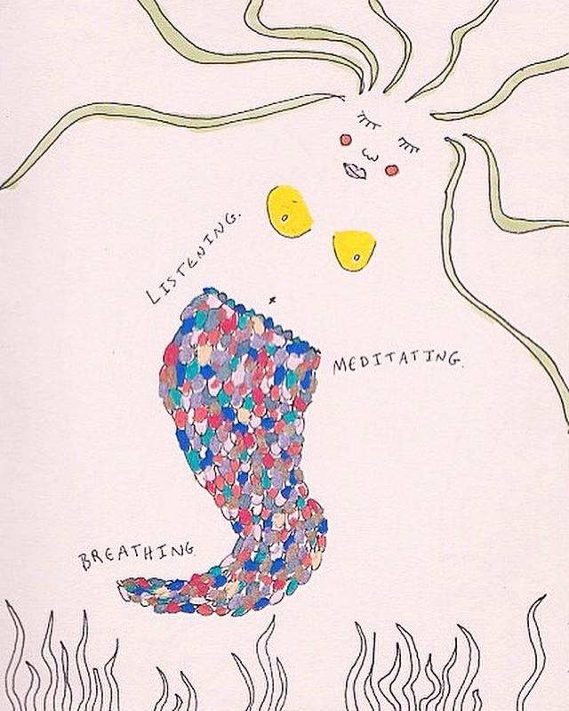 Listening. Meditating. Breathing.